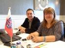 Die Thüringer Delegierten Bernd Vökler und Diana Skibbe