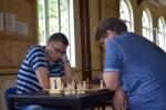Turniersieger Timo Greiner (links) gegen Uwe Mehlhorn